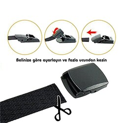 Evolite Outdoor Stretch Kemer 4 Cm Siyah - Thumbnail