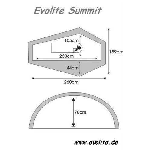 Evolite Summit Pro Tek Kişilik 4 Mevsim Çadır Alüminyum Pole