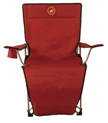 FAMEDALL - Famedall Lencos Ayak Uzatmalı Kamp Sandalyesi Kırmızı