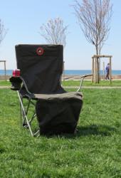 Famedall Lencos Ayak Uzatmalı Kamp Sandalyesi Haki - Thumbnail