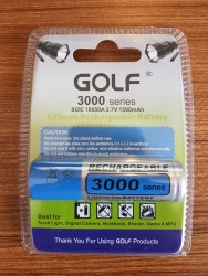 CFL - Golf 3.7V 1500 Mah 18650A Li-On Şarjli Pil