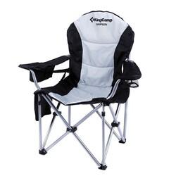 KINGCAMP - KingCamp Katlanır Kamp Sandalyesi Deluxe Siyah Gri