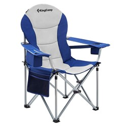 KINGCAMP - KingCamp Katlanır Kamp Sandalyesi Deluxe Mavi Gri