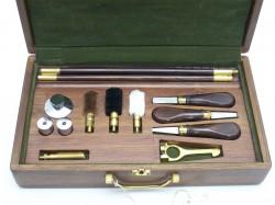 EL YAPIMI - Klasik Silah Bakım Seti Full Aksesuar Ahşap Kutuda Hint Yapımı