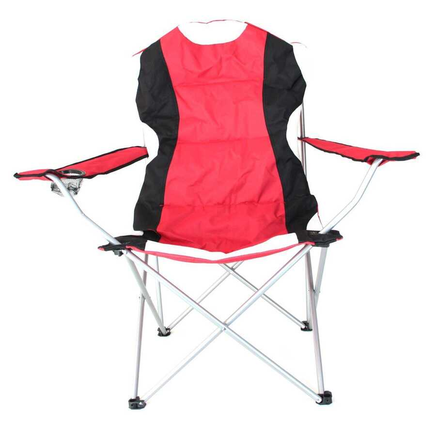 Madfox Katlanır Kamp Sandalyesi Kırmızı