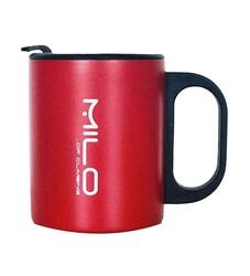 Milo - Milo Velka Paslanmaz Çelik Kapaklı Mug Bardak 300Ml Kırmızı