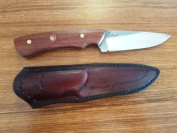 MOGAN - Mogan Avcı Bıçağı Kırmızı Perçinli Gül Saplı