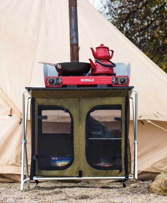 Nurgaz Campout Portatif Taşınabilir Kamp Mutfağı Tezgahlı
