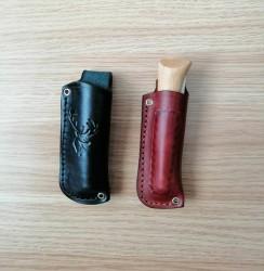 OPINEL - Opinel Inox Çakı Kayın Saplı Gerçek Deri Kılıflı No:8