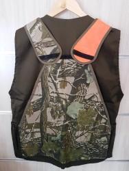 Orion Avcı Yeleği Orman Desenli Turuncu Cırtlı - Thumbnail