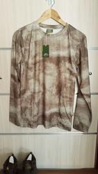 SIBER OUTDOOR - Siber Outdoor Kamuflaj Yeşil T-Shirt Uzun Kol