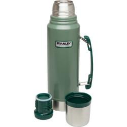 STANLEY - Stanley Classic Vacuum Flask 1 Lt Termos Hammertone Green