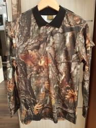YERLİ ÜRETİM - Polo Yaka T-Shirt Yazlık Uzun Kollu Orman